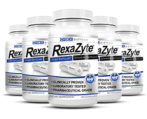 five bottles of RexaZyte